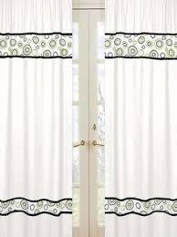 Sweet Jojo Zebra Curtains by Sweet Jojo Designs Green Zebra Window Panels Tinytotties