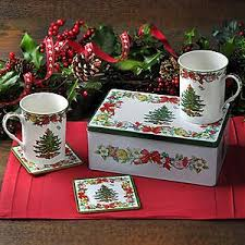 Spode Christmas Tree Mugs With Spoons by Spode Christmas Tree 5 Piece Tin Set U2013 House Of Portmeirion
