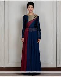 DE Wondrous Designer Royal Blue Kurta Dress With Multi Color Combination