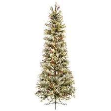 Amazon Fast Shape Slim Snow Pine Pre Lit Christmas Tree
