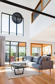 high ceiling living room living room contemporary with white walls