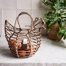 home storage solutions rustic rattan newspaper basket slimit