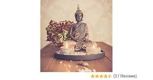 dszapaci buddha sitzend mit teelicht 22cm deko statue für