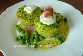 cuisiner des petit pois frais flans de petits pois frais vinaigrette à la menthe la cuisine au