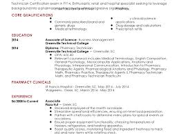 Sample Resume Pharmacist Templateurprising For Technician Example Of