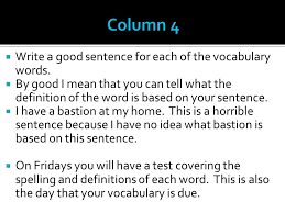 reminders please divide your paper into 4 columns label