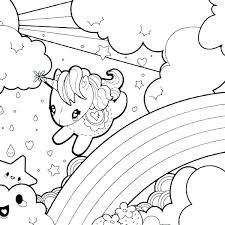 Baby Unicorn Coloring Pages Unicorns Pictures Of Page Free Rainbow 4 Kids