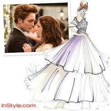Fashion Designers Sketch Bellas Wedding Dress