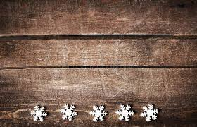 Rustic Background Christmas With White Snowflakes And Free
