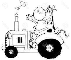 Coloriage Tracteur Et Vache 1001 Animaux Dedans Dessin De Tracteur