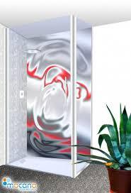 duschrückwand metallic effekt 100x210cm für badezimmer