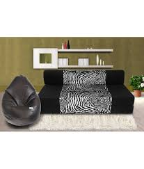 Black Sofa Covers India by Zeal 3 Seater Sofa Bed With Free Bean Cover Xxl Buy Zeal 3