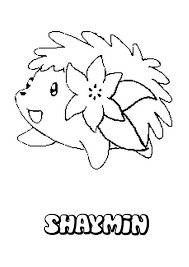 Shaymin Coloring Pages Throughout Pokemon Online