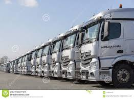 German Mercedes Benz Actros Trucks From Haulage Firm Neumann ...