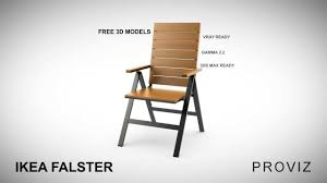 Folding Patio Chairs Ikea by Free 3d Models Ikea Falster Outdoor Furniture Series Youtube