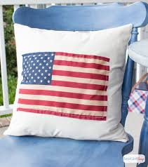 DIY American Flag Pillow Atta Girl Says