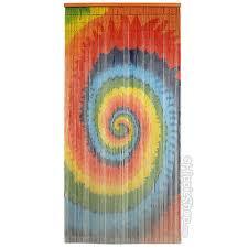 Door Bead Curtains Target by Music Room Tie Dye Spiral Door Beads Details For The Home