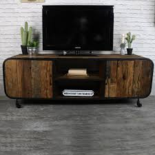 Rustic Industrial Style TV Cabinet Media Unit