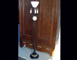 Unusual Vintage Clock Floor Lamp This Oxford Self Starting Keeps Excellent Time The All Metal Lights Up At Ornate Base 3 Small Bulbs