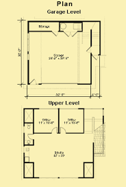 Apartment Garage Plans – Two Cars With a Studio Upstairs