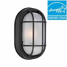 hton bay black outdoor led wall lantern hb8822led 05 the home