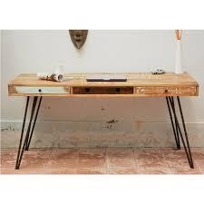 bureau en bois bureau design en bois jeux de couleurs et 3 tiroirs fusion by drawer
