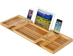 Bath Caddy With Reading Rack by Amazon Com Royal Craft Wood Natural Bamboo Bathtub Caddy Bath