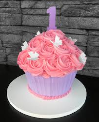 Giant Cupcake Number Butterflies