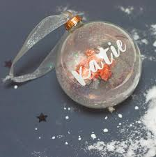Christmas Tree Name Baubles by Personalised Metallic Name Bauble By Little Pieces