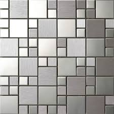 stainless steel mosaic tiles metal mosaic tiles 5mm 8mm thick
