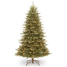 75 Flocked Christmas Tree by 7 5 Ft Pre Lit Feel Real Hinged Asbury Blue Spruce Full