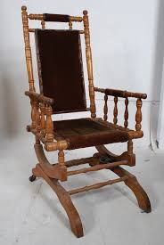 A 19th Century American Walnut Boston Rocking Chair ...
