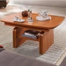 stralsunder couchtisch xh1 100 höhenverstellbar und ausziehbar in verschiedenen dekoren wählbar mit ablageplatte tisch für wohnzimmer