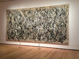 jackson pollock painting at museum of modern new york