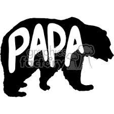 Papa Bear Stencil Vector Svg Cut Files