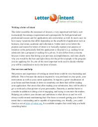 Letter of intent sample residency writing a this resembles the