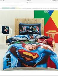 JUSTICE LEAGUE Awasome Four Super Hero Double Full Size Quilt