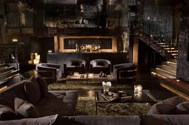 Classic Living Room With Dim Lighting