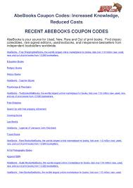 Abebooks-coupon-codes By Ben Olsen - Issuu Alibris Books Coupon Code Refurbished Dyson Vacuum Canada The Critical Thking Company Coupons Promo Codes Protalus Delta Skymiles Hertz Discount Teaching Textbooks Active Deals Amber Paradise Voucher Macys Online Bam Book Stores Always Tampons Printable Coupons Puggle Coupon Doggiefood Com Showit Promo Hotels Close To Jfk Airport Ny Mingle Magazine Magazine 20190711 Upscale Menswear Codes Conzerol Fab9tuning Foot Solutions Sabrett Hot Dog Jollychic 20
