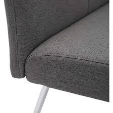 sitzbank mcw g55 esszimmerbank bank stoff textil edelstahl gebürstet grau 160cm