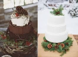 Chocolate Winter Wedding Cakes Images Sourced From Pinterest