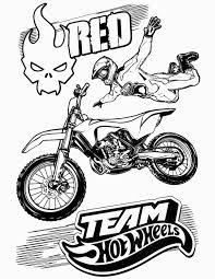 Hot Wheels Team Coloring Pages Red Printable