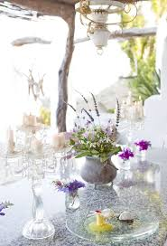 Dining Table Decorating At Spanish Country House With Rustic Style And Romantic Atmosphere
