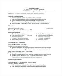 Tech Resume Templates Pharmacist Free X Ray