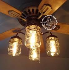 mason jar ceiling fan light kit with vintage pints the l goods