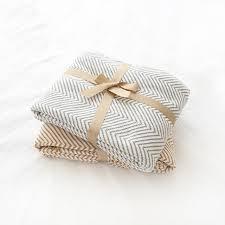 plaid gris canapé collalily nordique 100 coton canapé jeter couverture moderne