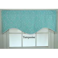 teal valance aqua hyatt waterfall valance moss turquoise window
