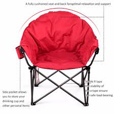 100 Oversized Padded Folding Chairs Giantex Saucer Moon Camping Chair Seat W
