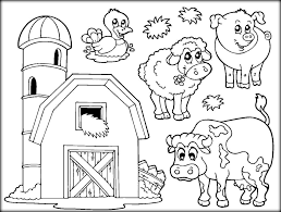 Farm Animals Coloring Pages For School Color Zini Cartoon Book Printable Full Size