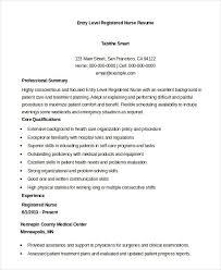 Entry Level Registered Nurse Resume